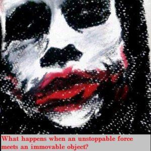 The Joker art in pastels