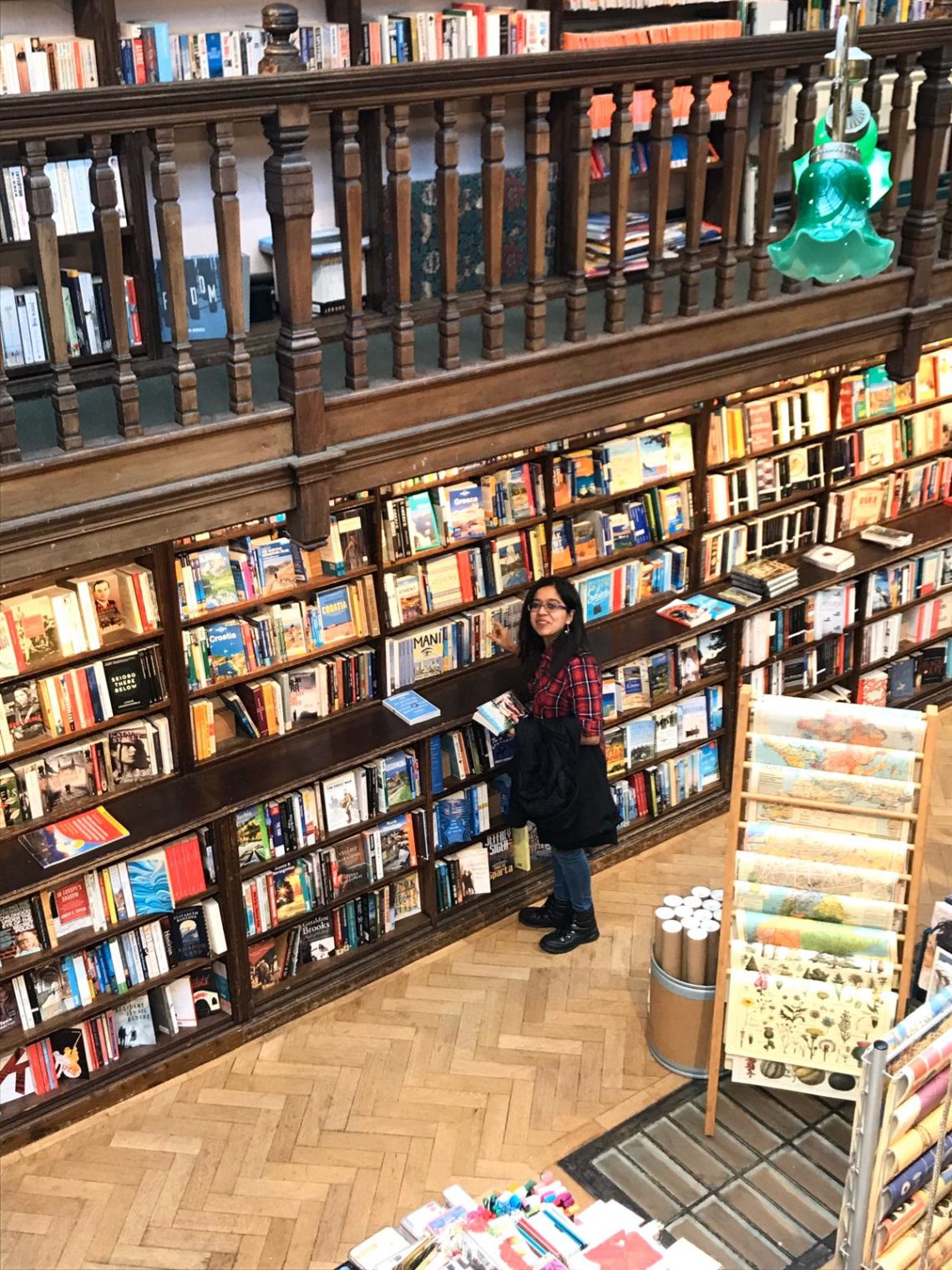 Me at the Daunt Bookstore in London